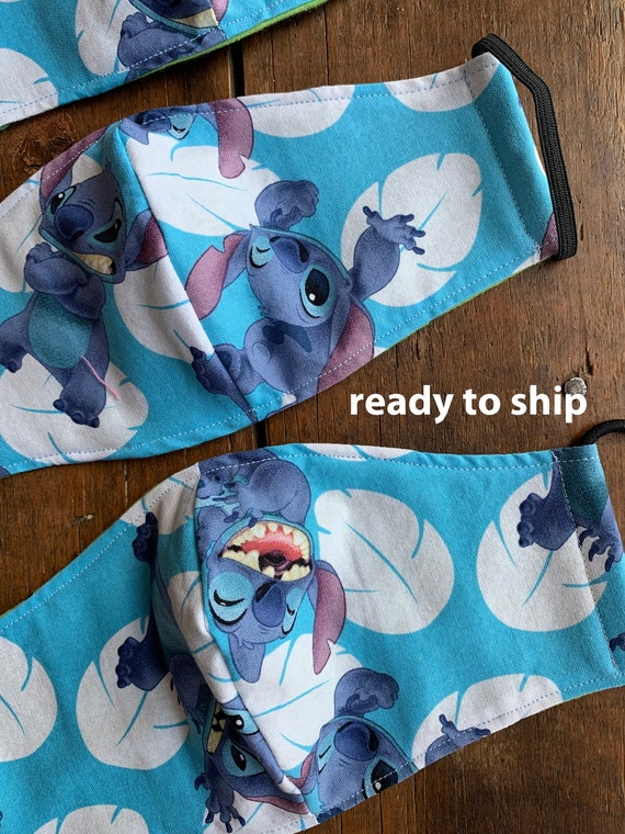 Disney Stitch  Men's, Women's and Child's Double Layer Face Mask with Filter Pocket