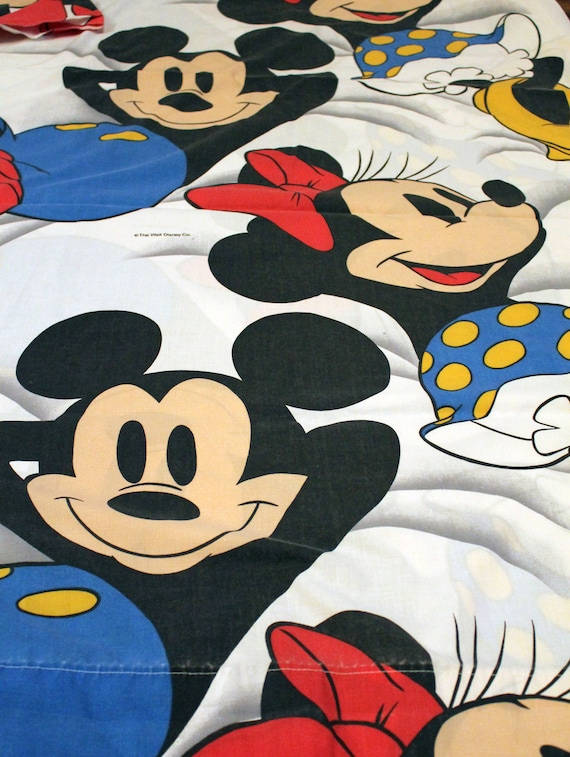 SALE Vintage Mickey & Minnie Mouse Bed Sheet TWIN