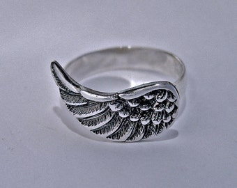 ANGEL Ring, Sterling silver ring, wing jewelry, angel jewelry, wing ring, angel wing ring, ring for her, wing jewelry, angel gift, pray ring
