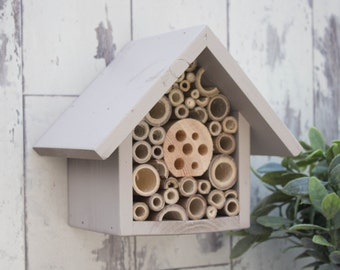 Mason Bee House and Insect Home, One Tier, in 'Muted Clay'. Can be personalised