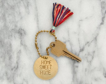 """Personalized Brass Keychain / Key Tag / """"FORGET ME NOT"""""""
