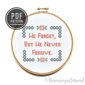 Family First Unless There/'s a Work Thing Office Decor Arrested Development Quote Funny Modern Completed Cross Stitch Embroidery Hoop Art