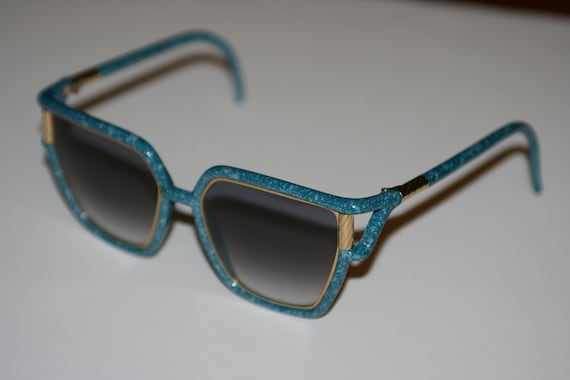 80s Vintage Turquoise TED LAPIDUS Oversized Sungla