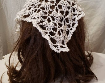 Flora Crochet Lace Veil Headdress