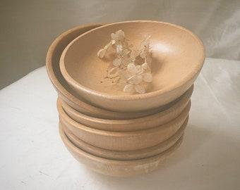Salad Bowls — Set of Six | Wooden Bowls