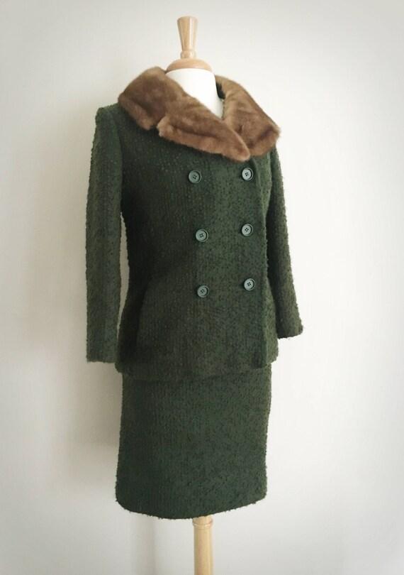 Women's Tweed Suit Set | Evergreen Suit Set | Fur