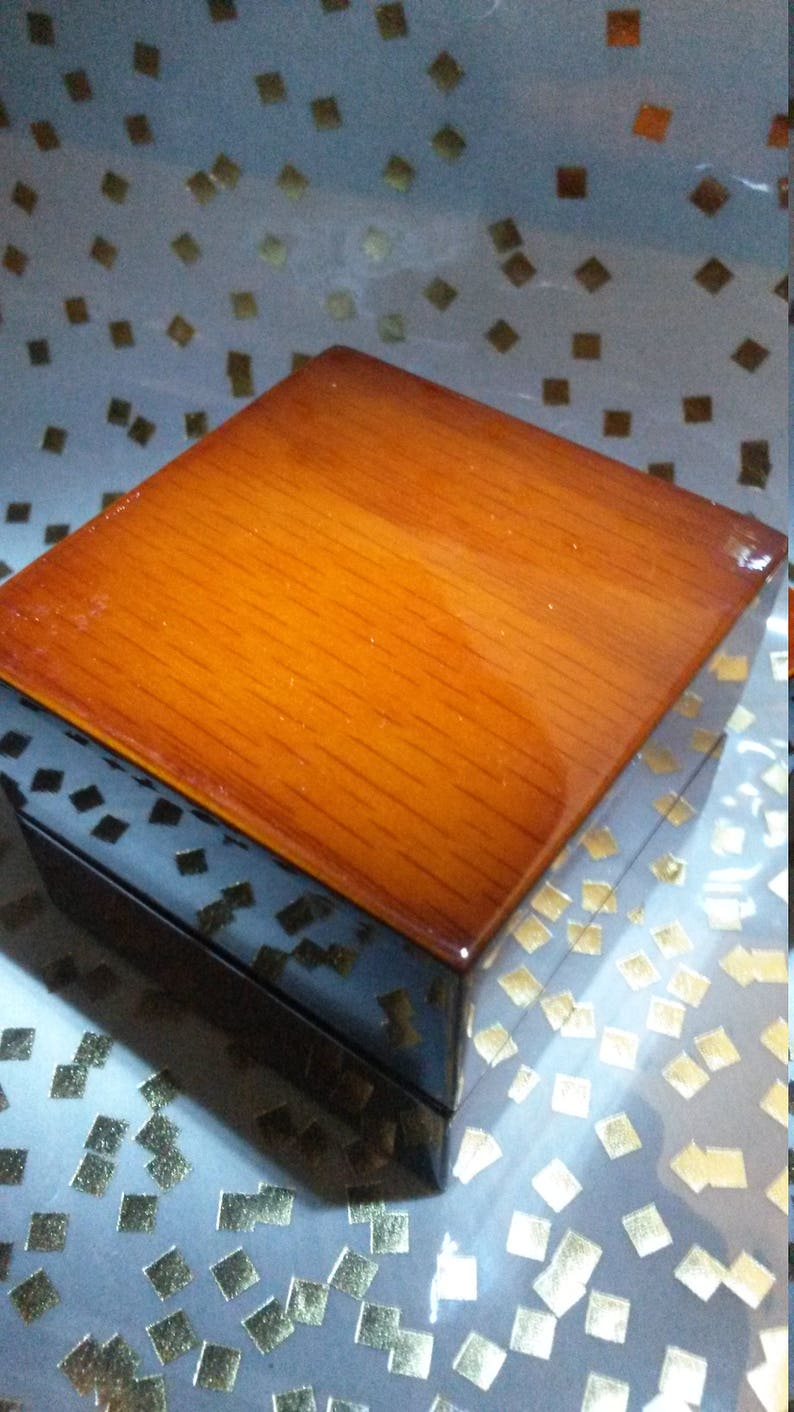 Piano finish Genuine Wood Lighted LED engagement ring box keepsake display case wedding bands