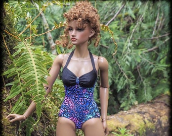 One piece swimsuit for Iplehouse SID ball jointed ladies!  (BJD, swimsuit, doll, ball jointed doll)