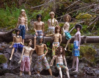 Boardshorts for your BJD SD gentlemen!  Several fabrics to choose from!