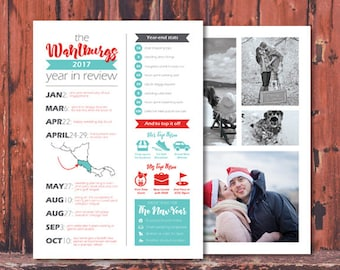 Custom Infographic Christmas, New Year or Holiday Card
