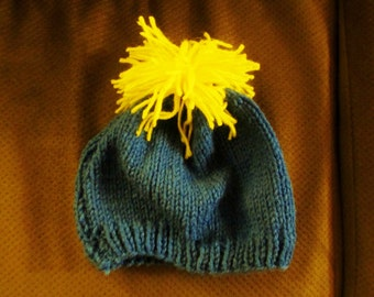 Blue and Yellow Winter Cap (adult sized)