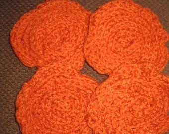 Orange Coiled Coasters