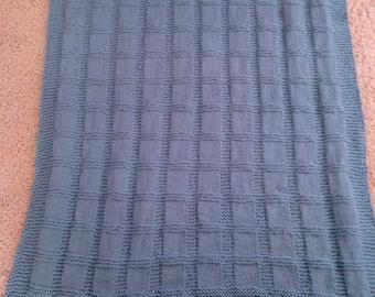 Sea Blue Baby Blanket