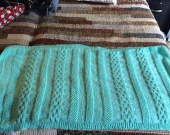 Mint unisex baby blanket