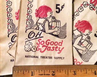 1940's Theatre Pop Corn bag 5 Cents