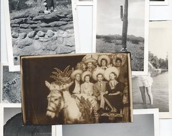 Vacation Photo Ephemera 1920s-1950s People on Vacations Scrapbooking A82