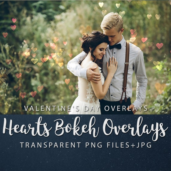 Valentine's Day Overlays, Hearts Overlays, Hearts Bokeh Overlays, Heart Textures, Hearts Pattern, Instant Download, Commercial Use