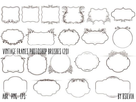 Photoshop brushes Pack Vintage Frames, Vintage Frames transparent PNG files, Frames vector files (EPS), Vintage Frames Clip Art