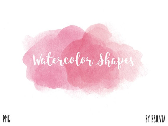 Watercolor Shapes Clip Art, Watercolor Splashes, Transparent PNG, Watercolor Clip Art, Watercolor Transparent Clip Art, Commercial Use