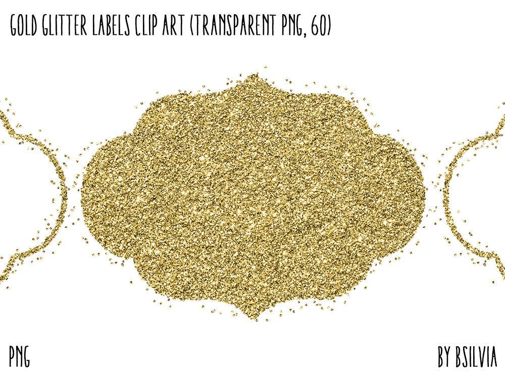 Gold-Glitter Konfetti Etiketten Clipart transparente   Etsy