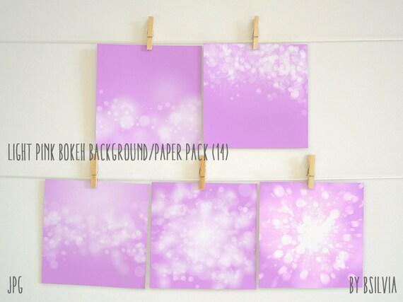 Light Pink Bokeh Paper Pack, Digital Bokeh Backgrounds, Digital Scrapbooking Paper Pack, Digital Bokeh Scrapbook Paper Pack, Commercial Use