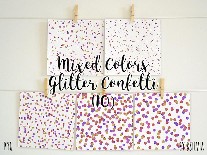 Mixed Colors Glitter Confetti Overlays Glitter Confetti image 0