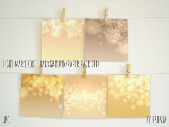 Warm colored bokeh paper pack, digital bokeh backgrounds, scrapbooking paper pack, digital bokeh scrapbook paper pack, commercial use