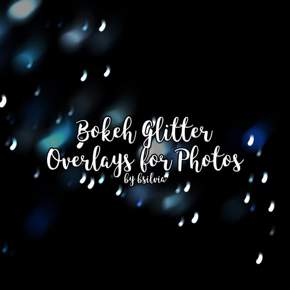 Bokeh Glitter Overlays, Yellow and Blue Glitter Overlays, Bokeh Overlays, Glitter Photo Overlays, Glitter Photoshop Overlays, Commercial Use