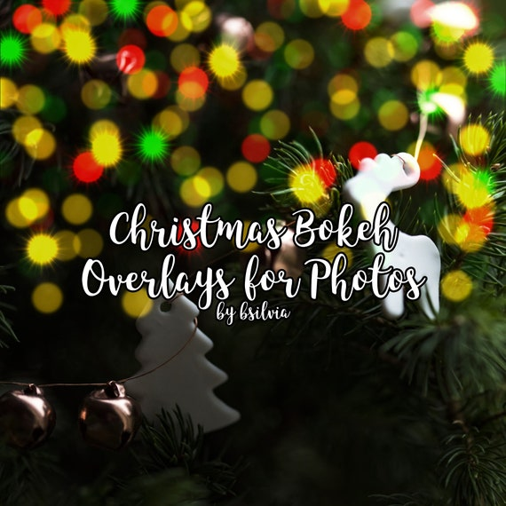 Christmas Bokeh Photo Overlays, 50 Bokeh Digital Backdrop, Bokeh Photo Layer, Bokeh Light Effects, Photoshop Overlays, Commercial Use