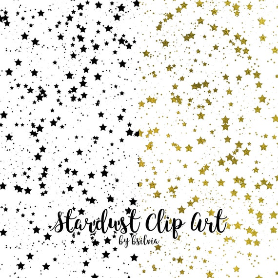 Stardust Clip Art, Stars Transparent PNG files, Stars Overlays, Magic Dust, Stars Clip Art for hot foil printing, 8.5x11, Commercial Use