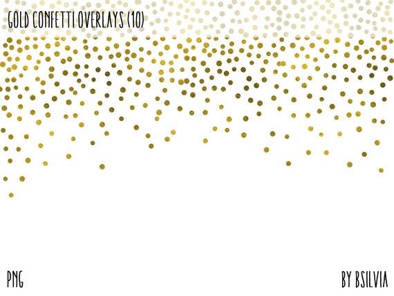 Gold Confetti Overlays, Gold Foil Confetti Transparent PNG files, Gold Confetti Clip Art, Digital Gold Confetti Photo Overlays set of 10