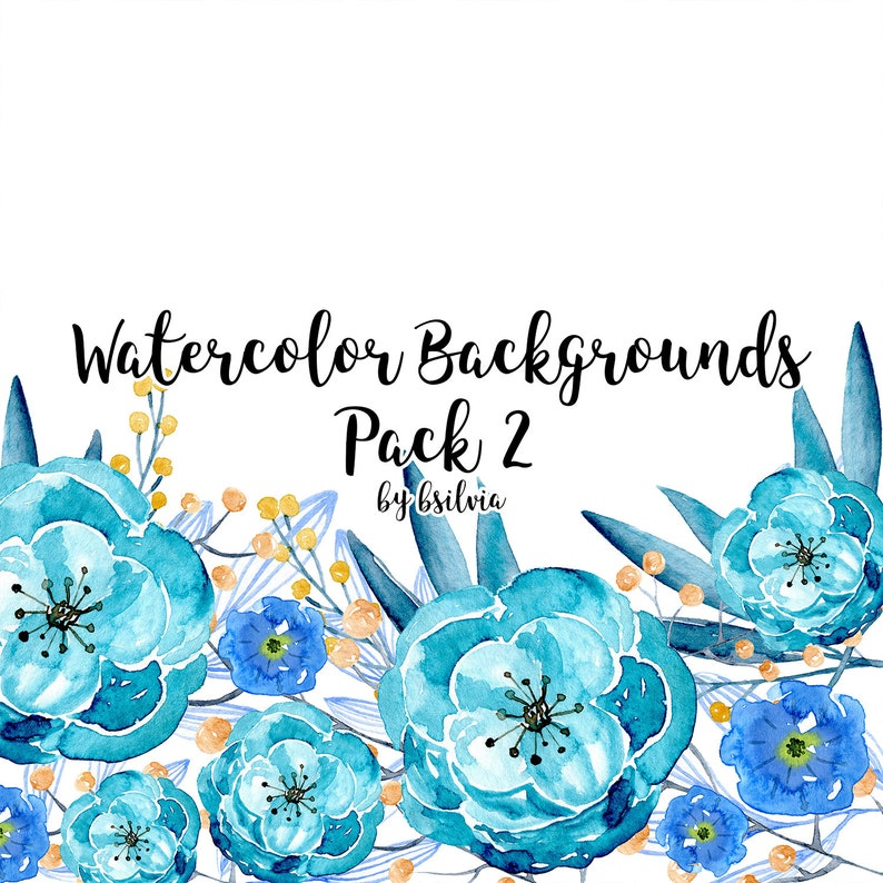 Watercolor Floral Backgrounds Watercolor Flowers Backgrounds image 0