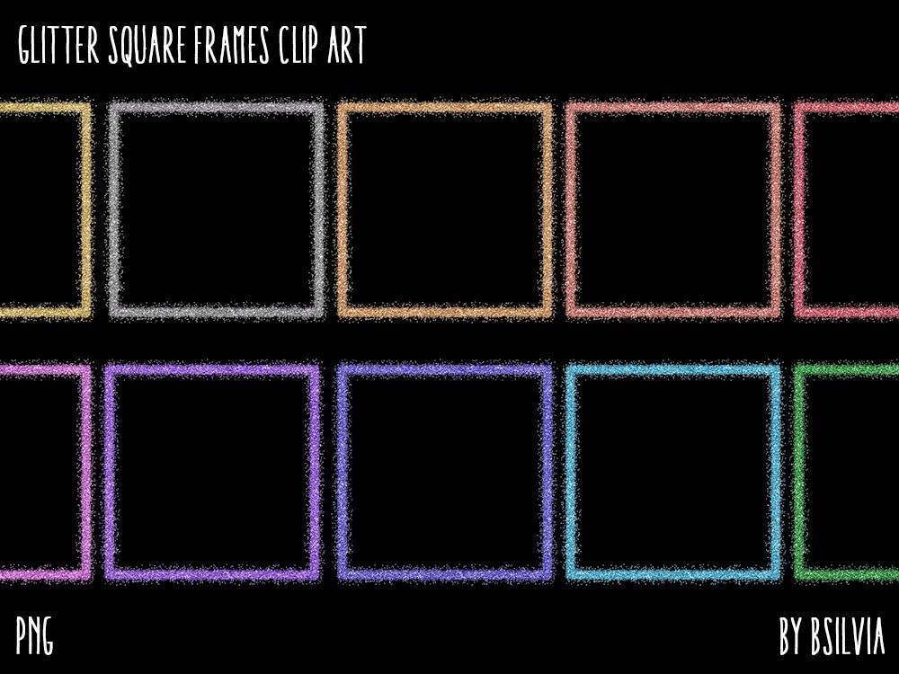Glitter-Platz Rahmen Cliparts transparente PNG   Etsy