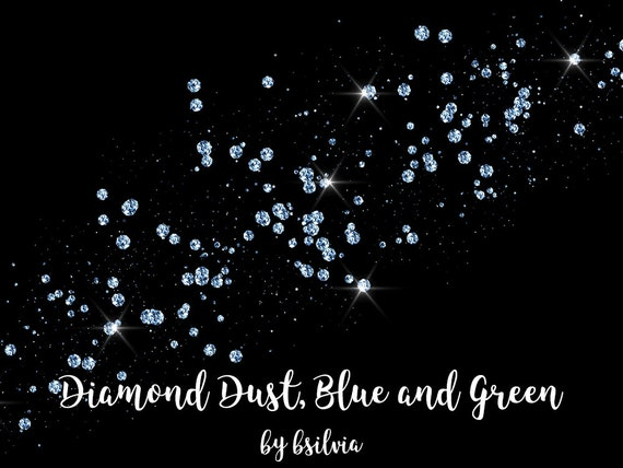 Diamond Dust, Blue and Green Diamond Dust Overlays, Diamond Transparent PNG files, Digital jewels, Glam Overlays, Diamond Clip Art