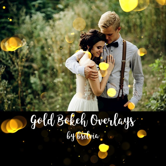 40 Gold Bokeh Overlays, Bokeh Photoshop Overlays, Gold Bokeh Digital Effect for Photography, Photo Layer, Photo Overlay, Digital Backdrop