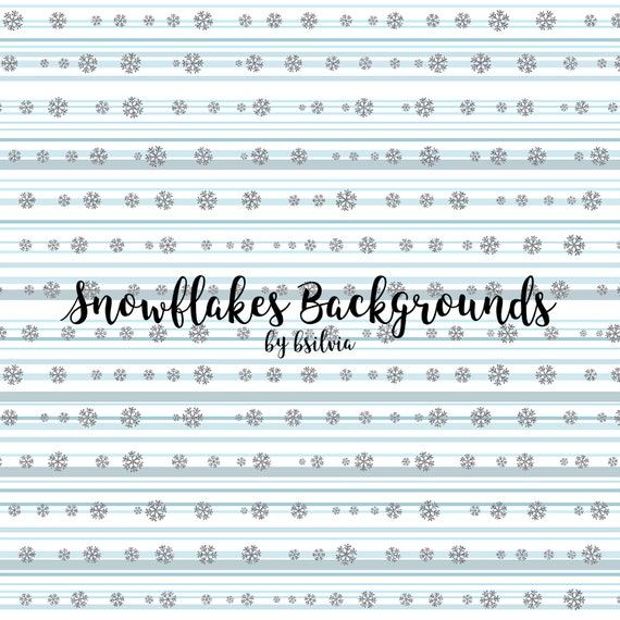 Snowflake Digital Papers, Winter Wonderland Backgrounds, Winter Digital, Instant Download Scrapbooking Winter Backgrounds, Commercial Use