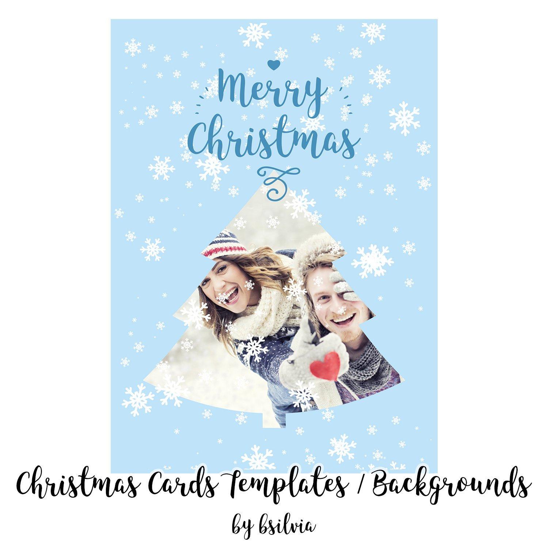 Printable Christmas Greeting Cards Christmas Photo Card Digital 5x7