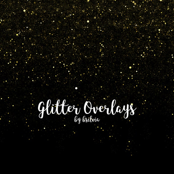 Glitter Overlays, Yellow Glitter Overlays, Gold Glitter Bokeh Overlays, Glitter Photo Overlays, Glitter Photoshop Overlays, Commercial Use