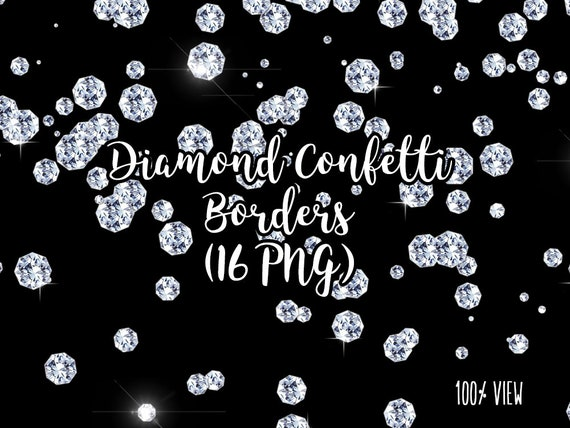 Diamond Confetti Overlays, Diamond Transparent PNG files, Diamond Confetti Clip Art, Digital jewels,Glam Confetti Overlays, Diamond Clip Art