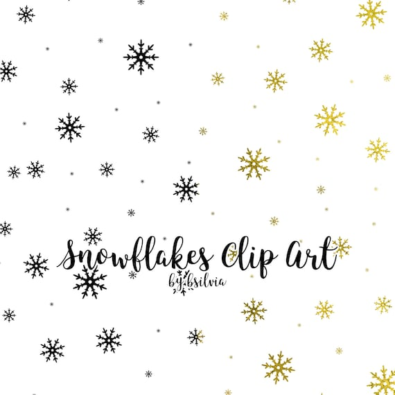 Snow Clip Art, Snowflakes Transparent PNG files, Snowflakes Overlays, Snowflakes Clip Art for hot foil printing, 8.5x11, Commercial Use