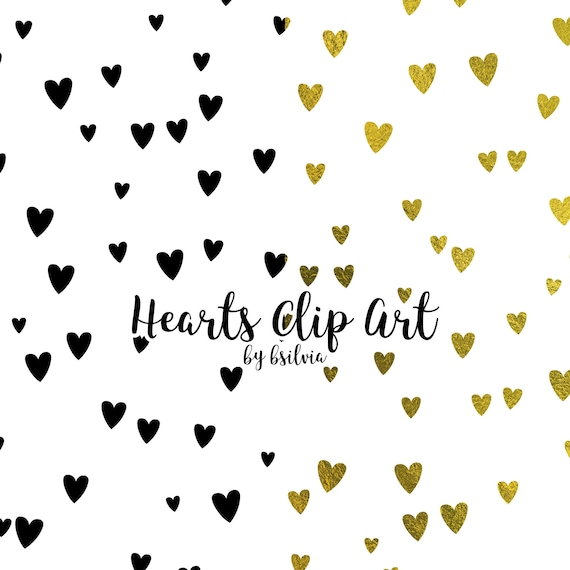 Hearts Clip Art, Hearts Transparent PNG files, Hearts Overlays, Hearts Confetti, Hearts Clip Art for hot foil printing, 8.5x11