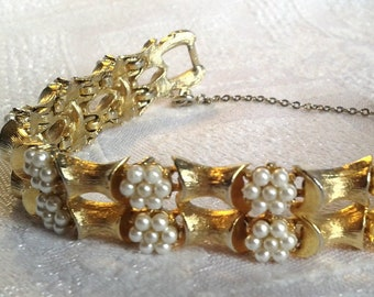 vintage bling jewelry chunky rhinestone bracelet Vintage Jewelcraft bracelet unique vintage gifts for her