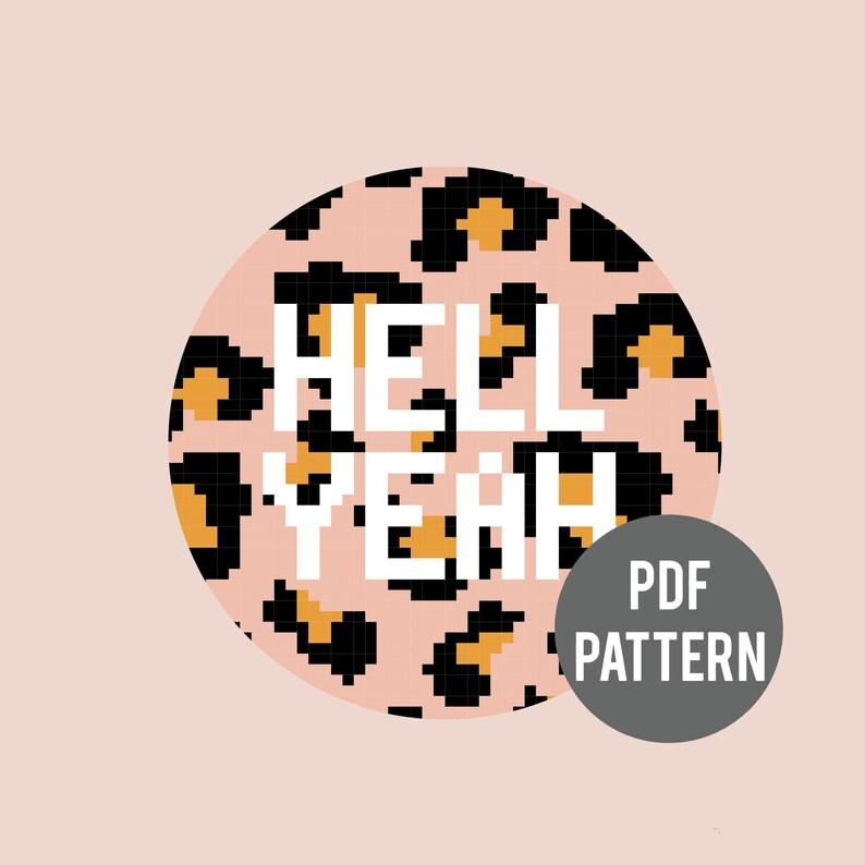 LEOPARD  PDF cross stitch pattern image 0
