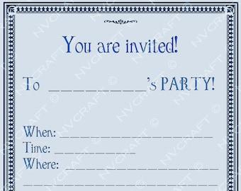 Verrassend Verjaardag uitnodiging sjabloon afdrukbare PDF-bestand | Etsy MH-62