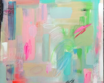 Softer Side 20 x 20 Original Acrylic Abstract Painting on Canvas