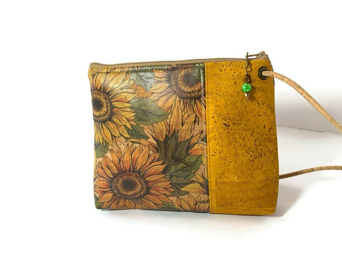 Featured listing image: Abigail Cross Body Bag with sunflower print
