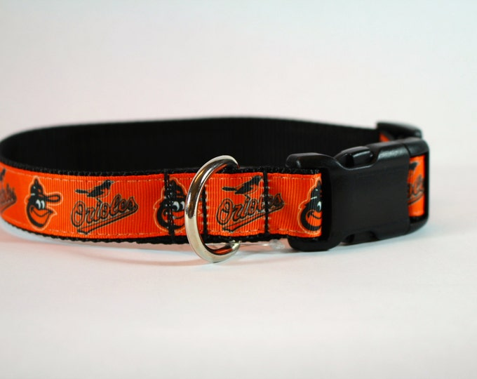 Orioles inspired dog collar, Baltimore dog collar, baseball collar, dog gift, pet gift,  dog accessories, Bozies Bags