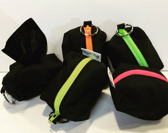 Dog poop bag holder, poop pouch, mini pouch, poop bag, attachable leash bag, Bozies Bags