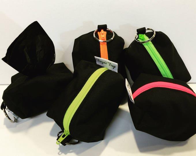 Dog poop bag holder, poop pouch, mini pouch, poop bag, attachable leash bag, Bozies Bags
