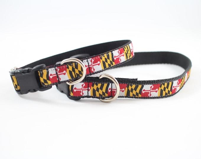 Maryland flag dog collar, Maryland collar,  martingale Dog collar, Buckle dog collar gifts,  dog collar, pet accessory, pet gifts